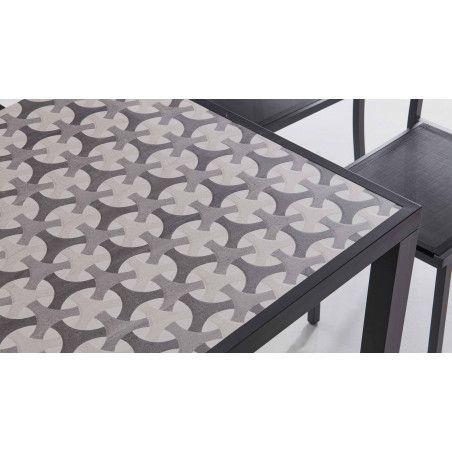 Table d'extérieur en céramique motifs design