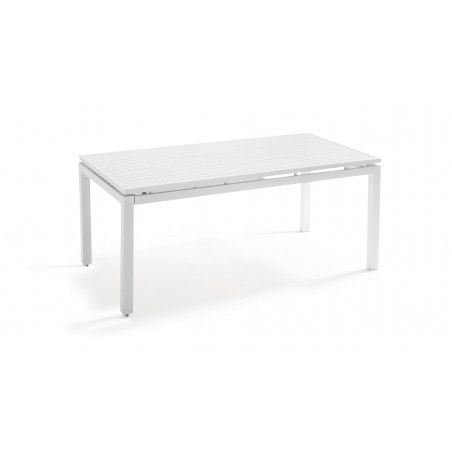 Table de jardin blanche rallonge extensible 180/240 cm | GALILEE