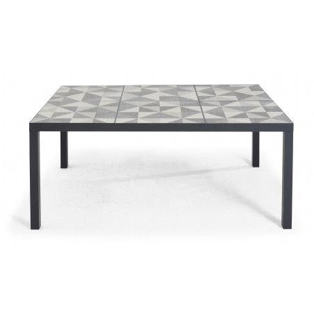 Table de jardin en céramique motif Diamond 10 personnes