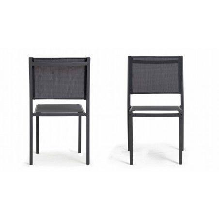 Chaises de jardin aluminium et assise en textilène TIVOLI
