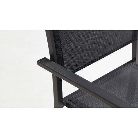 Zoom accoudoirs chaise jardin TIVOLI