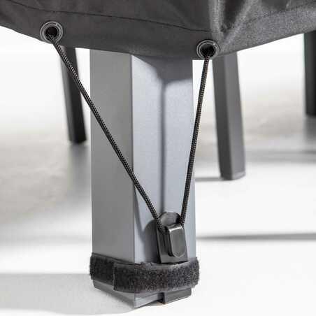 Housse de table de jardin noire 240 x 130 cm | COV'UP