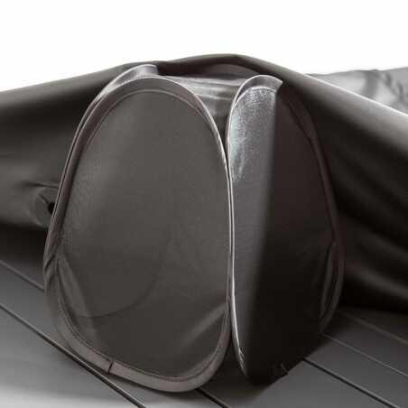 Housse de table de jardin noire 200 x 130 cm | COV'UP