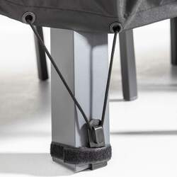 Housse de table de jardin noire 170 x 110 cm | COV'UP