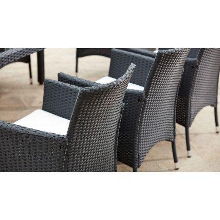 Lot de 4 fauteuils de jardin résine | HENDAYE