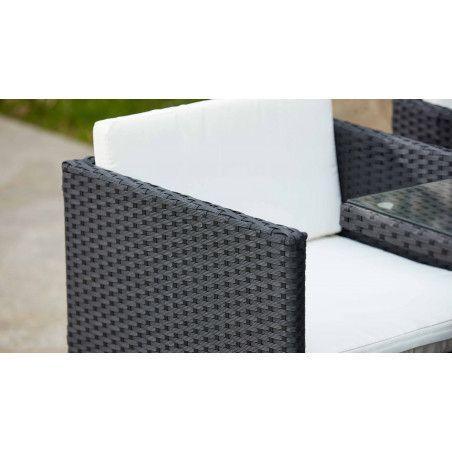 Zoom fauteuils de jardin en résine tressée | BIARRITZ