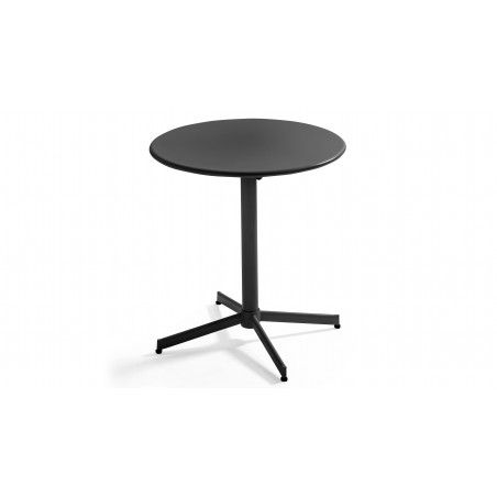 Table de jardin bistrot rabattable ⌀70cm gris anthracite