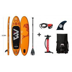 Stand up paddle gonflable Fusion + Leash + Pagaie