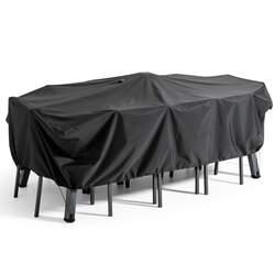 Housse de table de jardin noire 240 x 130 cm