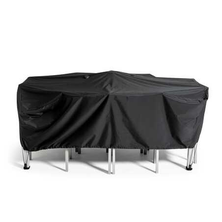 Housse de table de jardin noire 200 x 130 cm