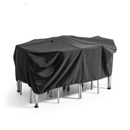 Housse de table de jardin noire 170 x 110 cm