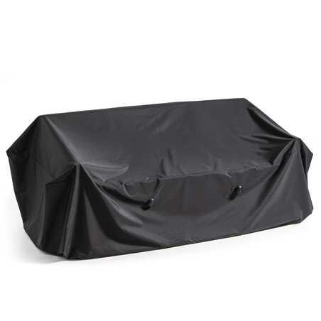 Housse de canapé extérieur noire 230 x 90 x 60 cm