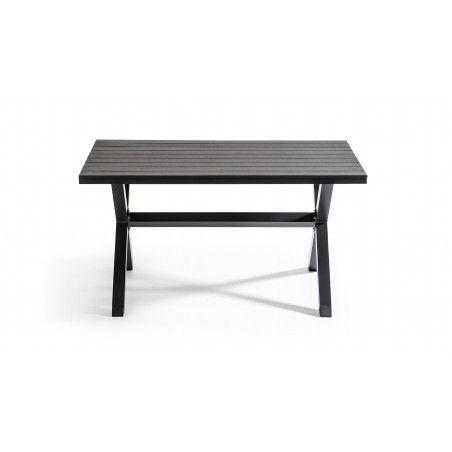 Table de jardin en aluminium et polywood 140x90x73cm