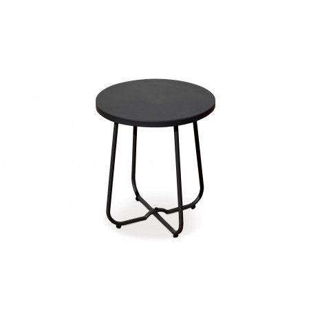 Petite table basse ronde en métal