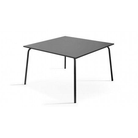 Table carrée intérieure en métal