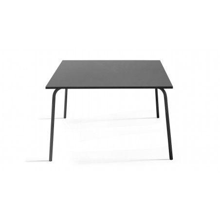 Table intérieure carrée grise