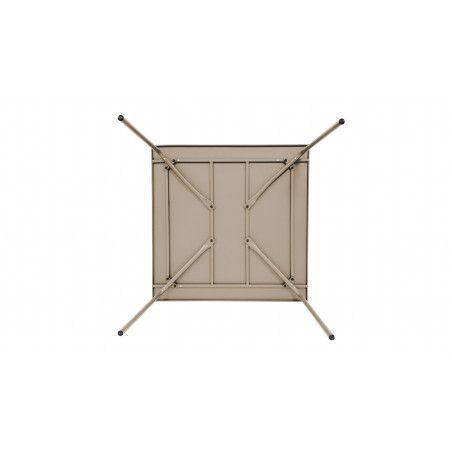 Table beige en métal indus