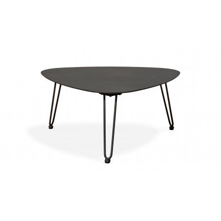 Table basse triangle métal gris