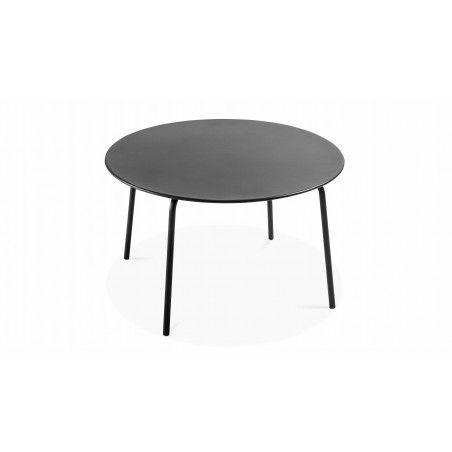 Table ronde intérieure en métal gris
