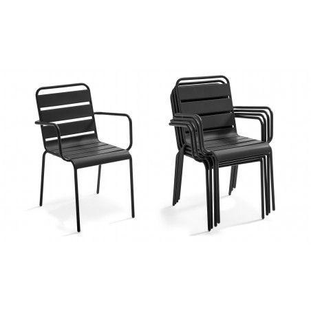 Chaise intérieure empiable avec accoudoirs