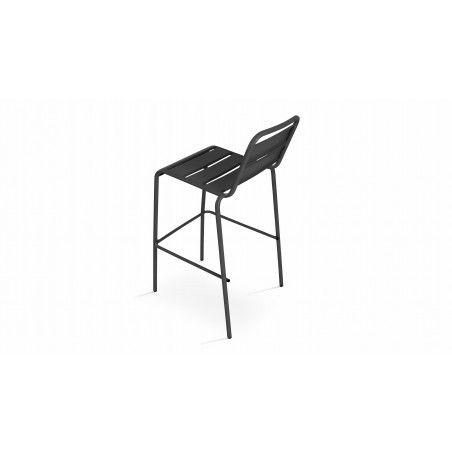 Chaise haute grise en métal