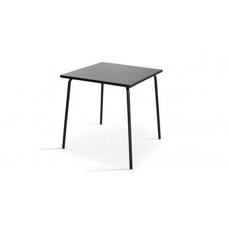 Table carrée 70x70cm grise