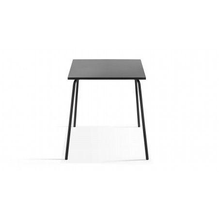 Table en métal carrée intérieure grise