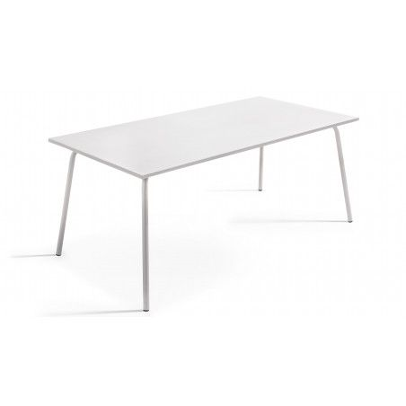 Table rectangulaire blanche style indus
