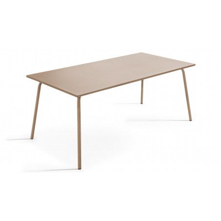 Table rectangulaire beige style indus