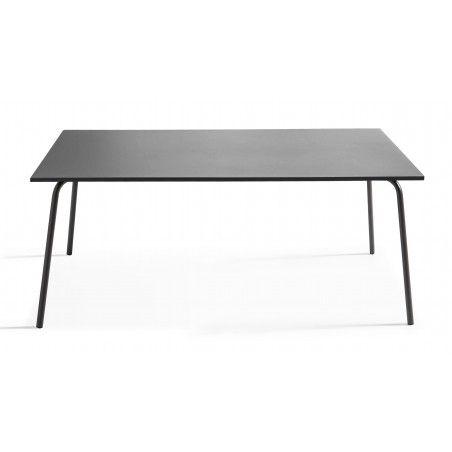 Table grise en métal 8 personnes