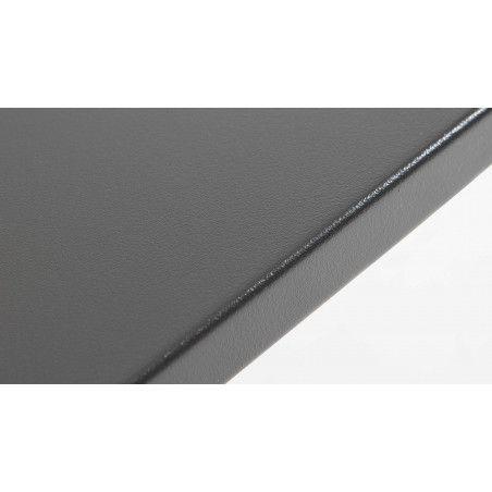 Table design en métal gris