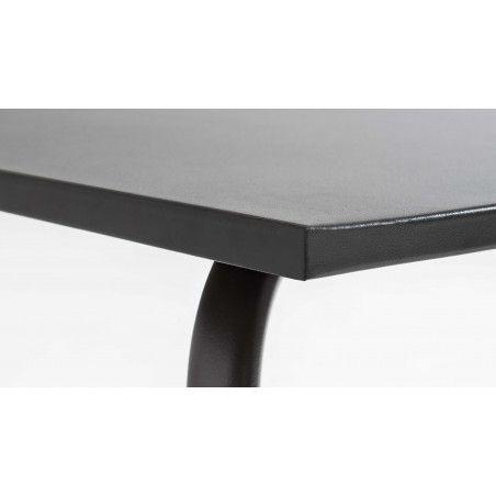 Table rectangulaire grise 8 personnes en métal