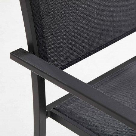 Zoom fauteuil de jardin noir