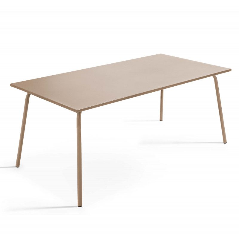 Table de jardin design en métal