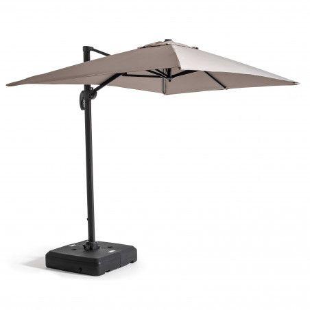 Dalle pour parasol déporté avec roues