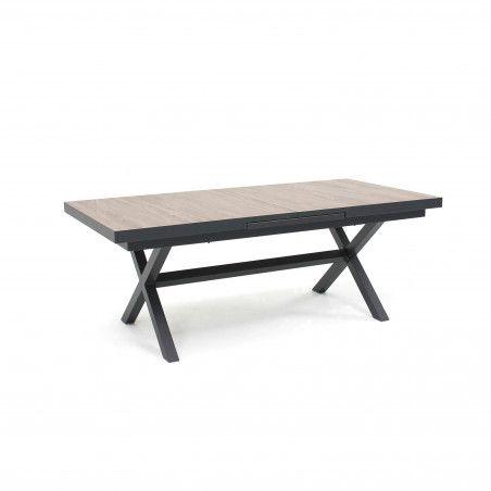 Table extensible extérieure pieds croisés