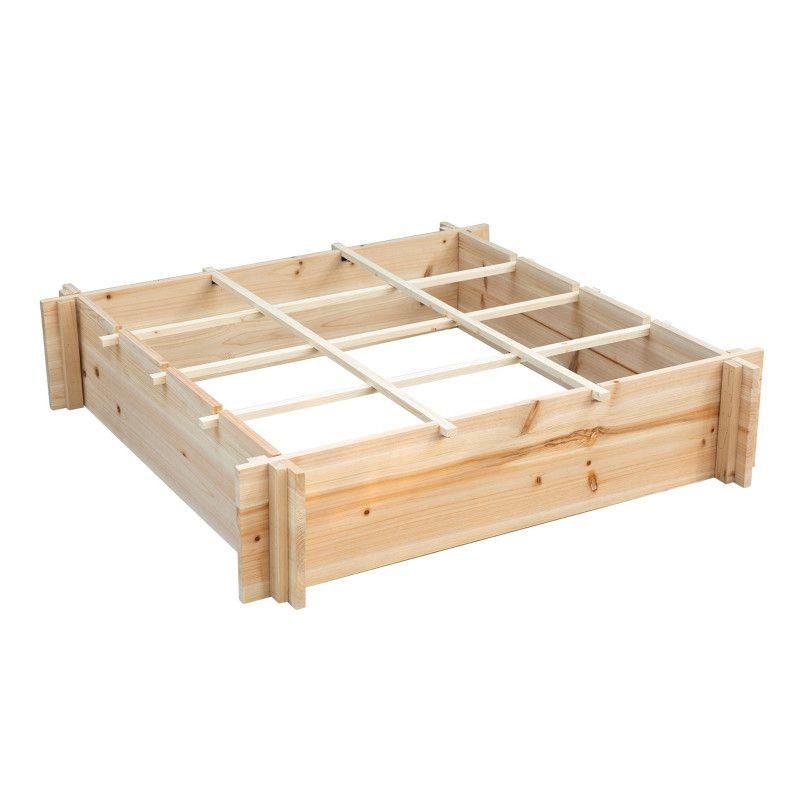 Potager carré avec compartiments