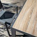 Plateau table jardin carrelage