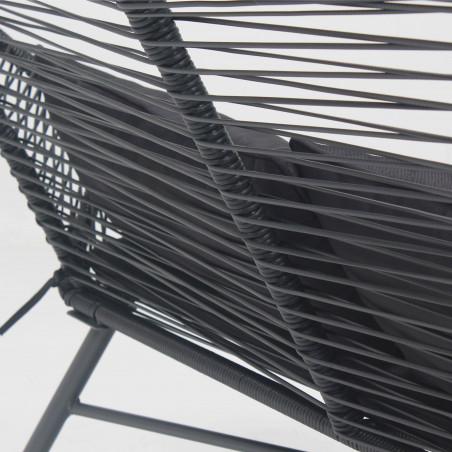 Canapé de jardin noire filaire imitation rotin