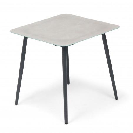 Table basse carrée salon de jardin