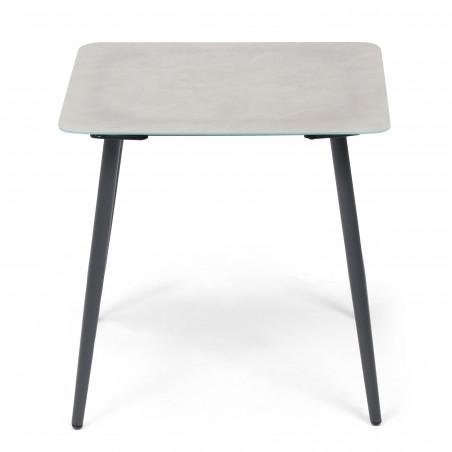 Table basse carrée plateau effet marbre