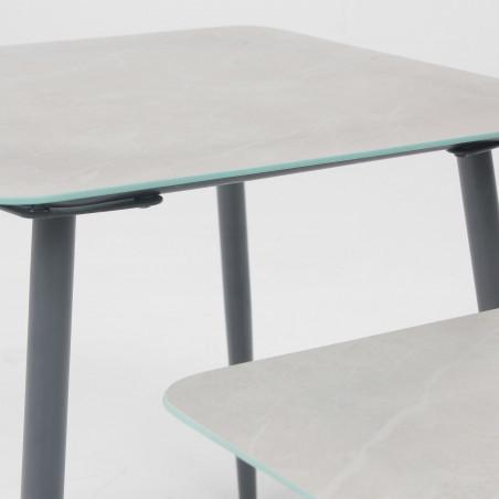 Table basse de jardin effet marbre