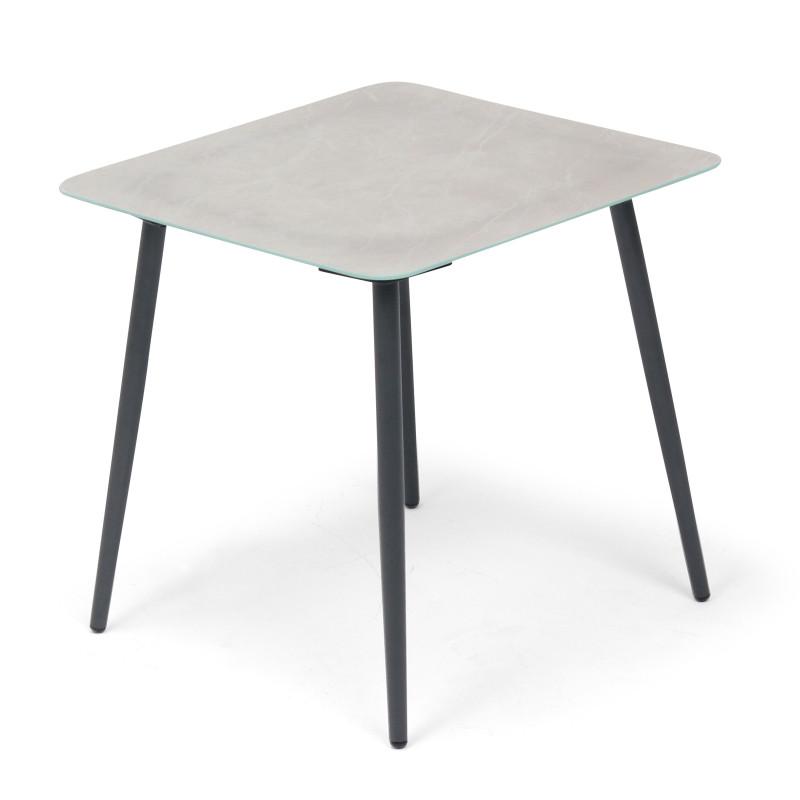 Grande table basse de jardin plateau gris