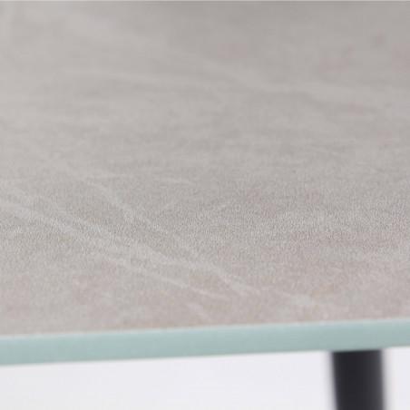 Zoom table basse plateau effet marbre gris