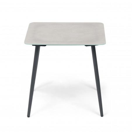 Table basse salon de jardin effet marbre