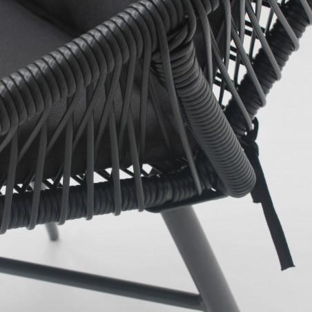 Structure fauteuil de jardin noir filaire