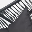 Zoom coussin noir fauteuil extérieur