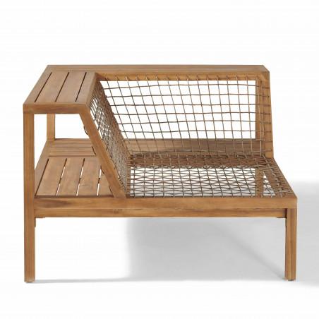 Structure fauteuil d'angle salon seychelles 4 places