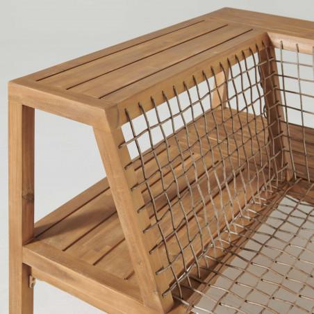 Structure bois acacia salon seychelles