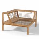 Structure canapé d'angle salon de jardin bois acacia